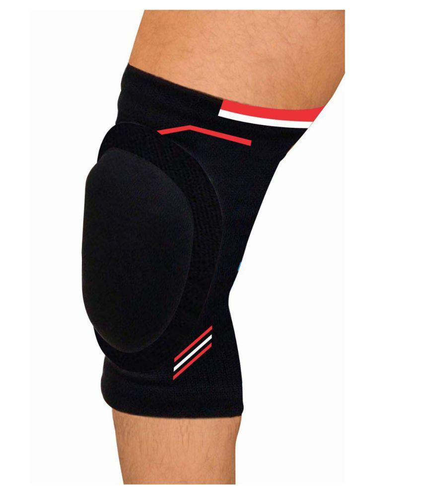 Quada Padded Knee Cap,Knee Protectors, Exercise Compression Knee Brace Breathable, Knee Adjustable Sports
