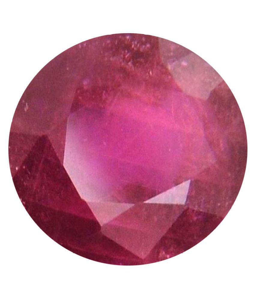 Tejvij And Sons 4.25 -Ratti Self certified Red Ruby Precious Gemstone