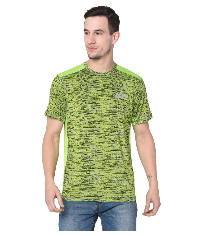 Grand Derby Cotton Blend Green Printed T-Shirt