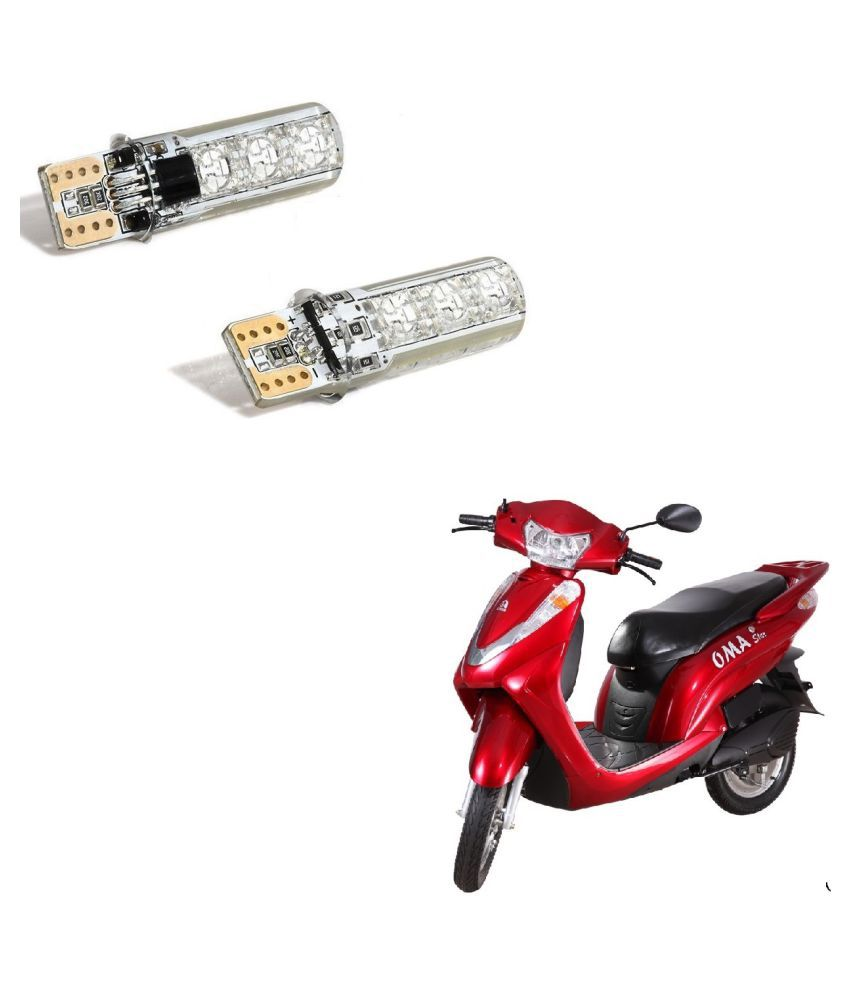Auto Addict Scooty 2PC T10 LED RGB Car Interior Fancy/Parking Remote Control Light For Lohia Oma Star