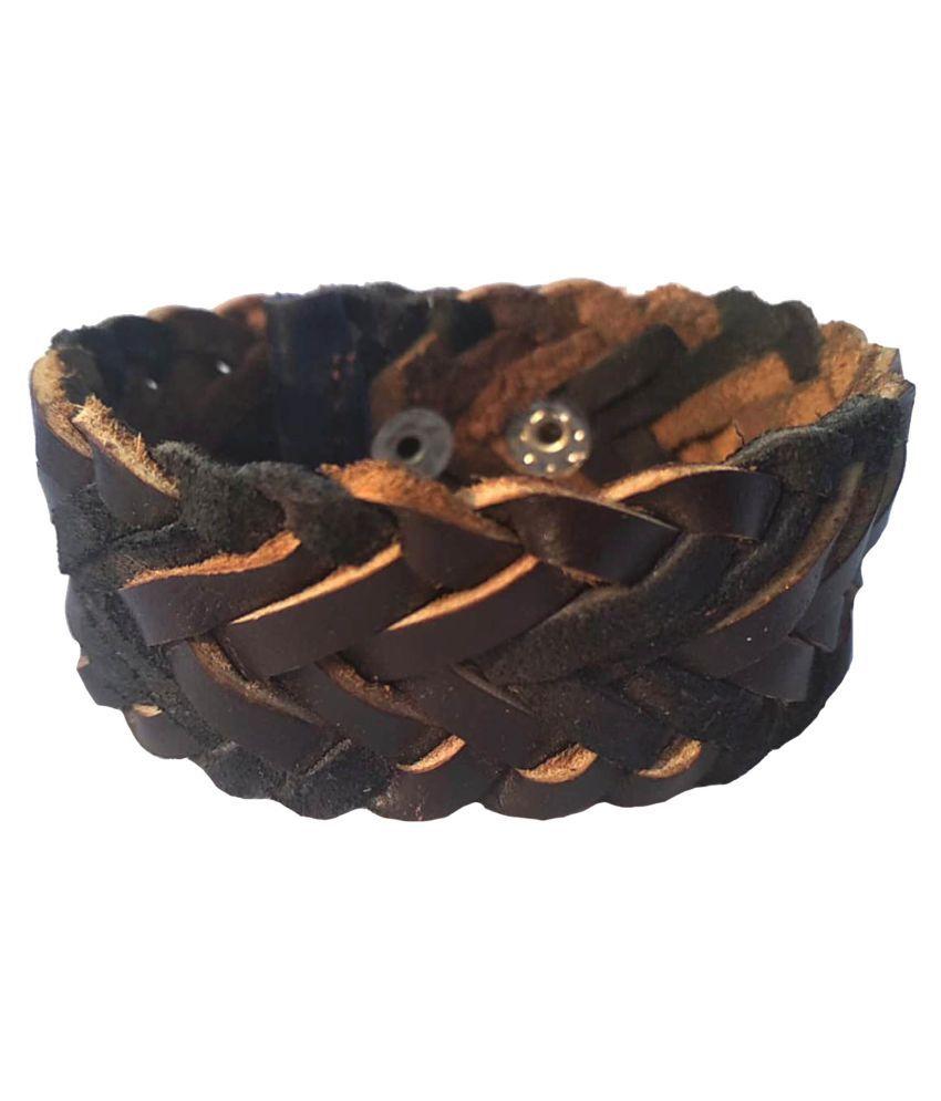 Leather bracelet for Men: leather bracelet men; Boys Brown*Handcrafted