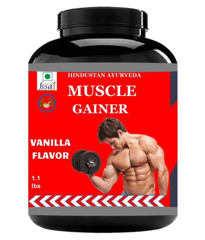 Hindustan Ayurveda Muscle Gainer Vanilla Flavor Powder 500 gm Pack Of 1