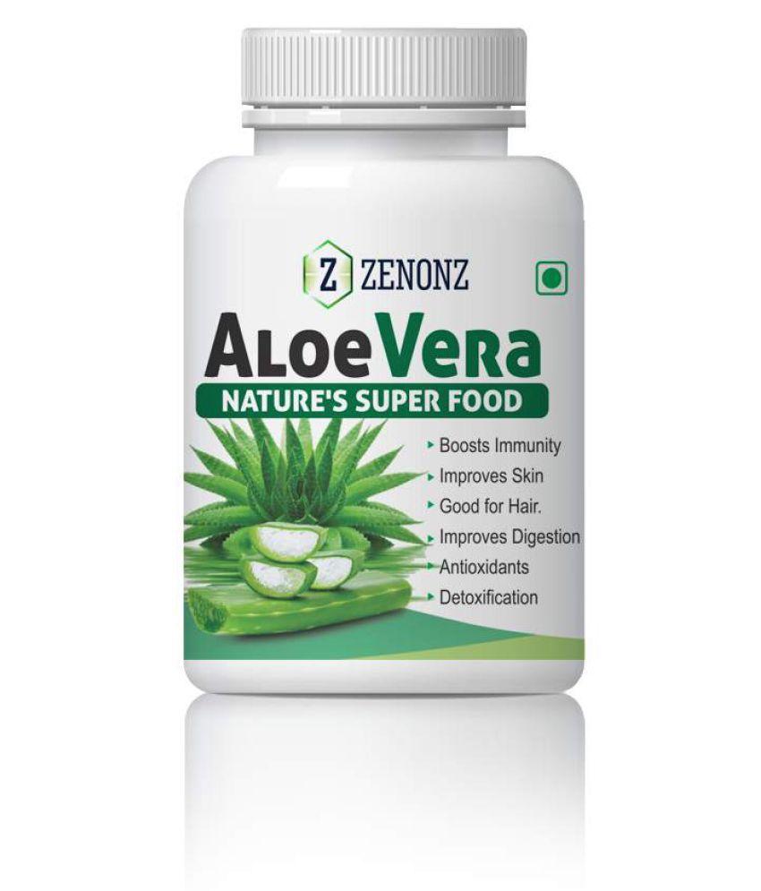 zenonz AloeVera boost Improve Skin & Hair Care Capsule 500 mg Pack Of 1