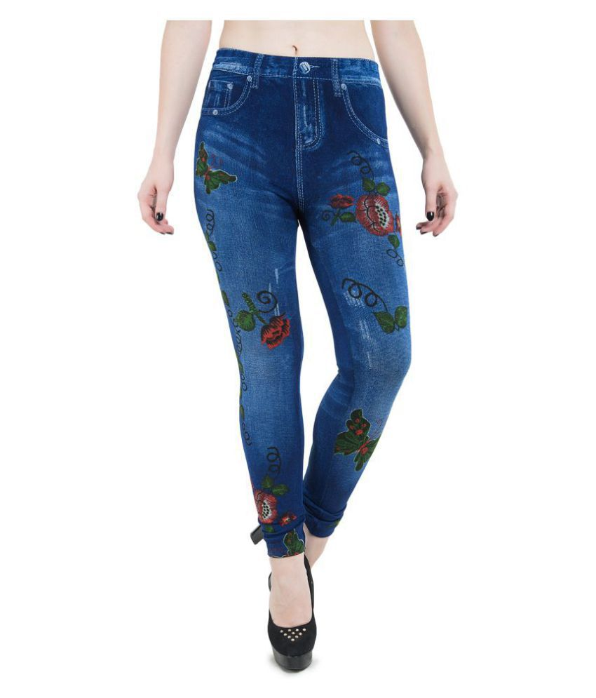 Burdy Denim Jeggings - Blue