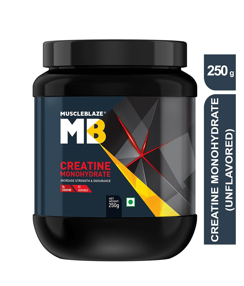 MuscleBlaze Monohyrate Creatine, Improves Performance,0 55 lb/ 250 g, 83  Servings (Unflavoured)