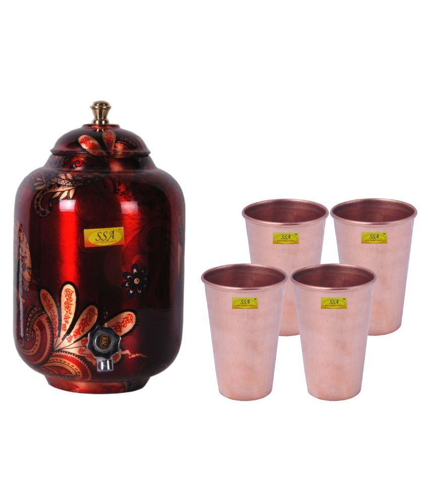 Shiv Shakti Arts Drinkware Pot Set 4 Pcs Lemon set