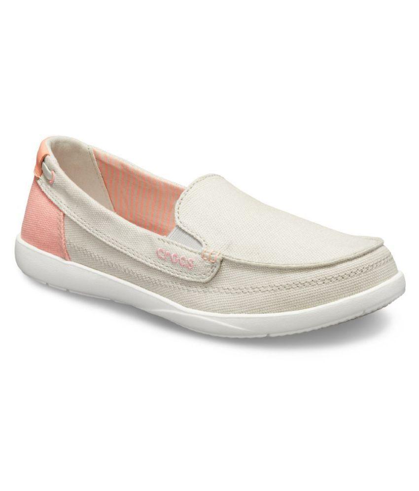 Crocs White Casual Shoes