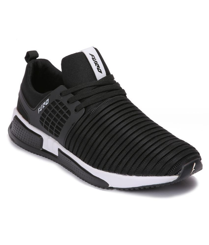 FURO Sports By Red Chief W3011 Black Running Shoes