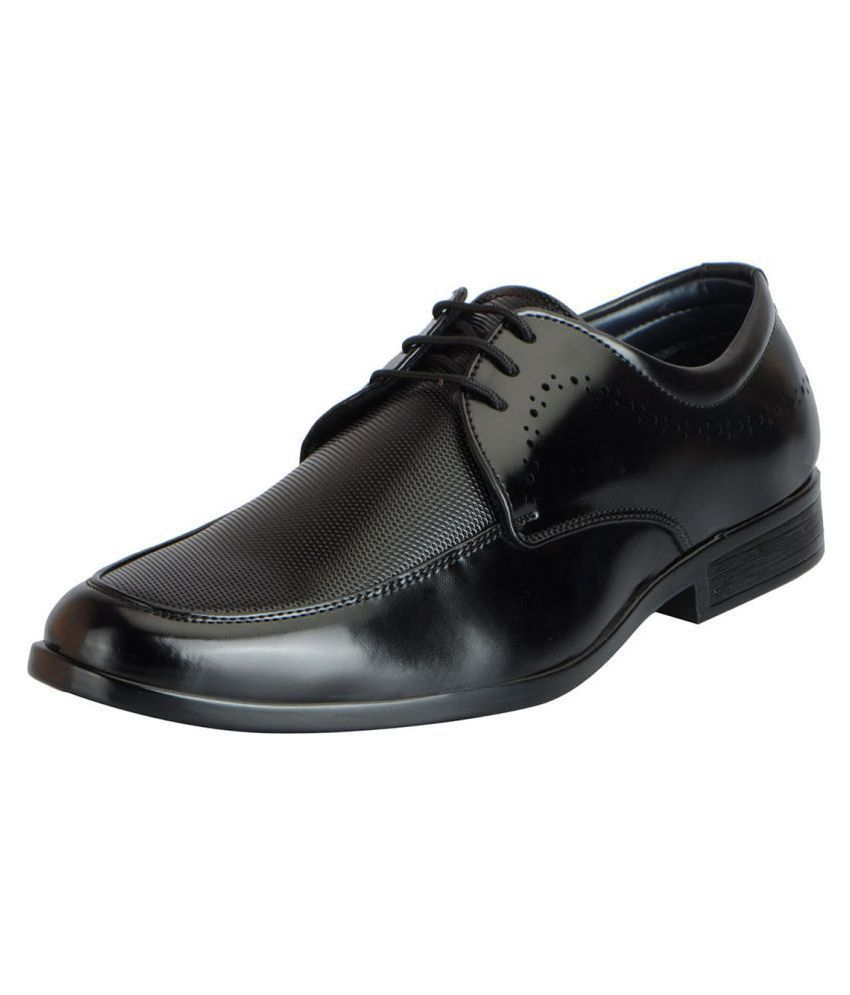 Fausto Office Non-Leather Black Formal Shoes