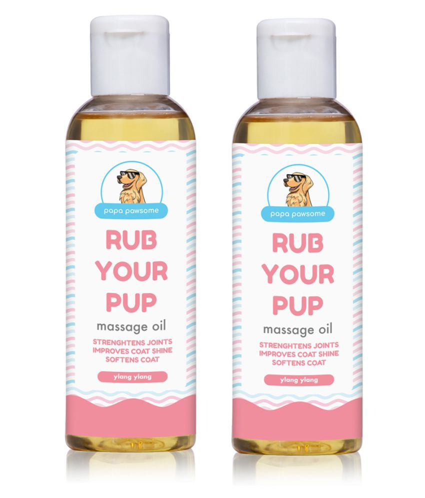 Papa Pawesome Rub Your Pup Massage Oil for Pet Dogs (100 ml Each) - Pack of 2