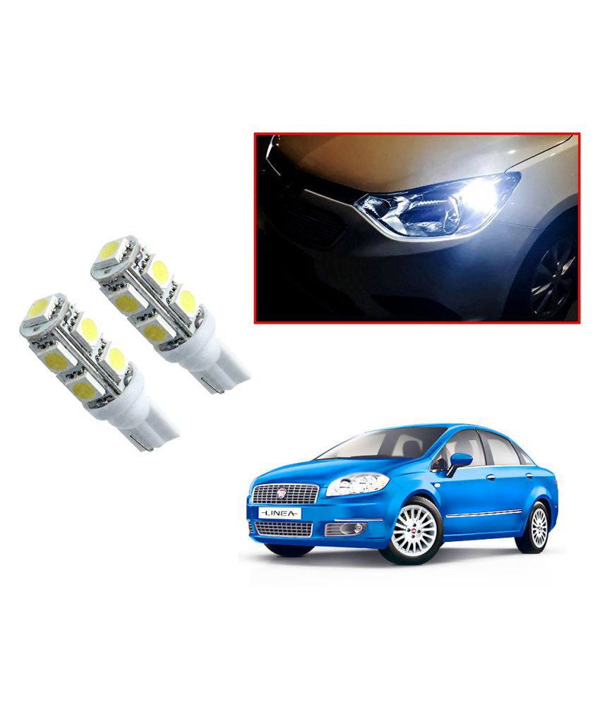 Auto Addict Car T10 9 SMD Headlight LED Bulb for Headlights,Parking Light,Number Plate Light,Indicator Light For Fiat Linea Classic
