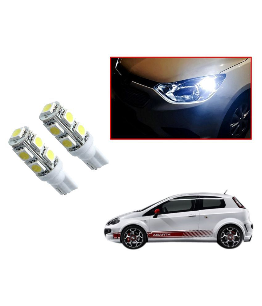 Auto Addict Car T10 9 SMD Headlight LED Bulb for Headlights,Parking Light,Number Plate Light,Indicator Light For Fiat Abarth