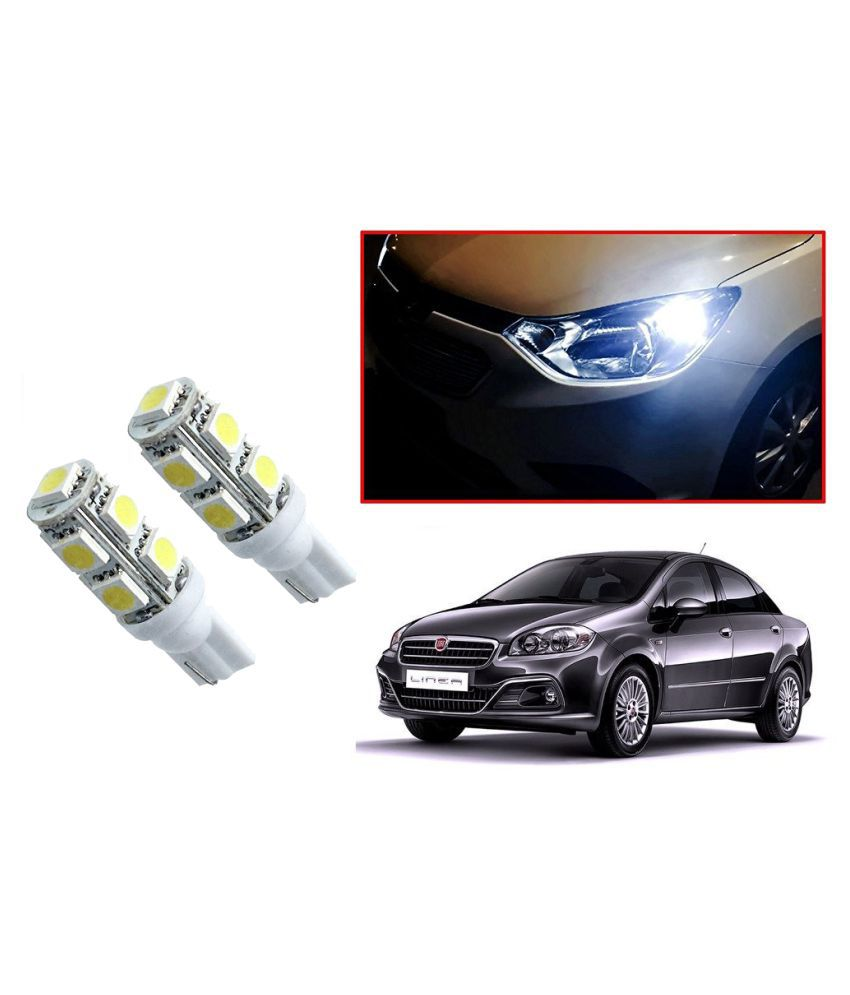 Auto Addict Car T10 9 SMD Headlight LED Bulb for Headlights,Parking Light,Number Plate Light,Indicator Light For Fiat Linea
