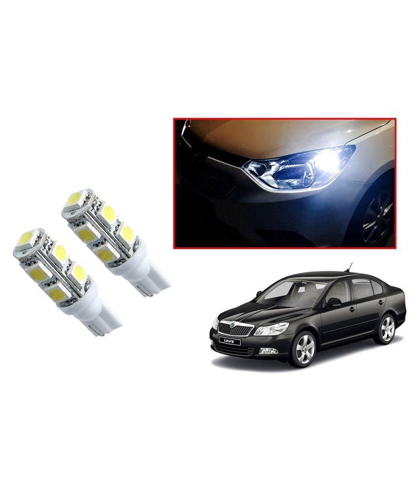 Auto Addict Car T10 9 SMD Headlight LED Bulb for Headlights,Parking Light,Number Plate Light,Indicator Light For Skoda Laura