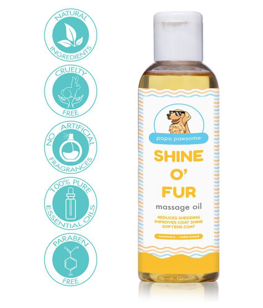 Papa Pawsome Shine O' Fur Massage Oil for Pet Dogs (250 ml)