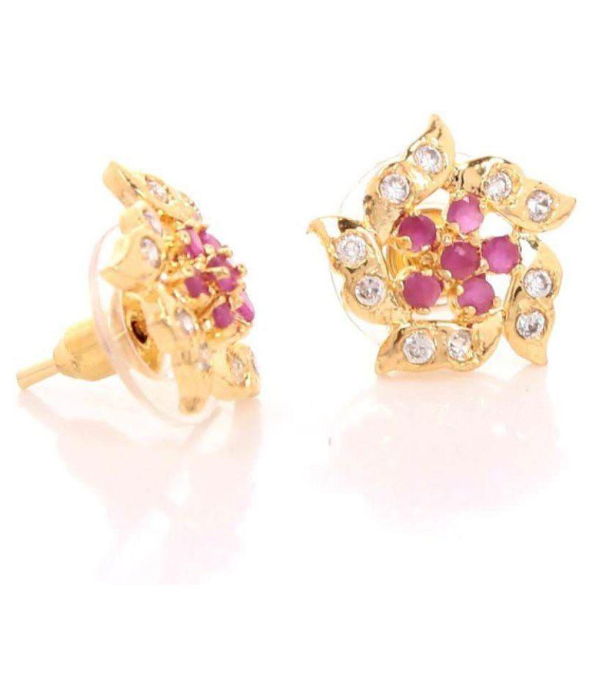 GoldNera Krutika Brass Stud Earrings