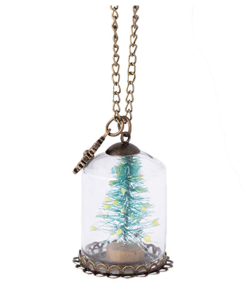 Fashion Necklace, Fashion Women Men Luminous Glass Christmas Tree Pendant Chain Necklace Gift (Fashion Jewellery)