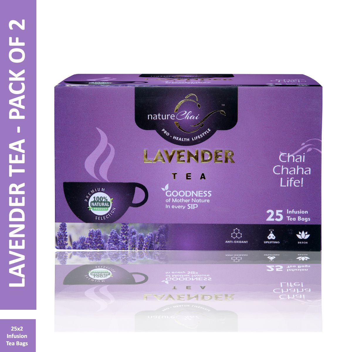 Nature Chai Lavender Green Tea Bags 25 no.s Pack of 2