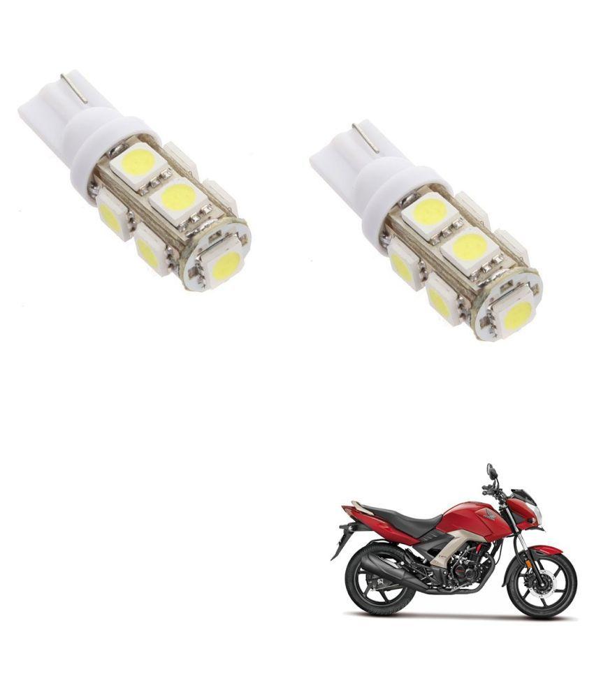 Auto Addict Bike T10 9 SMD Headlight LED Bulb for Headlights,Parking Light,Number Plate Light,Indicator Light For Honda CB Unicorn 160