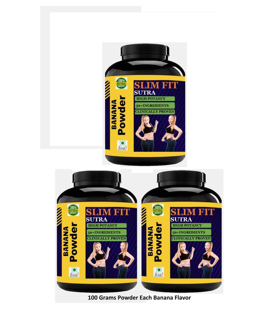 VITARA HEALTHCARE Slim Fit Sutra Banana Flavor Powder 300 gm Pack of 3