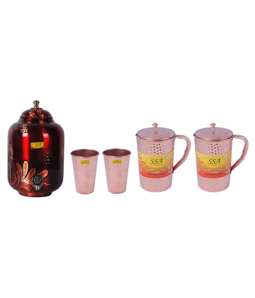Shiv Shakti Arts Pot, Glass & Jug Set 5 Pcs Jug and Glass Combo
