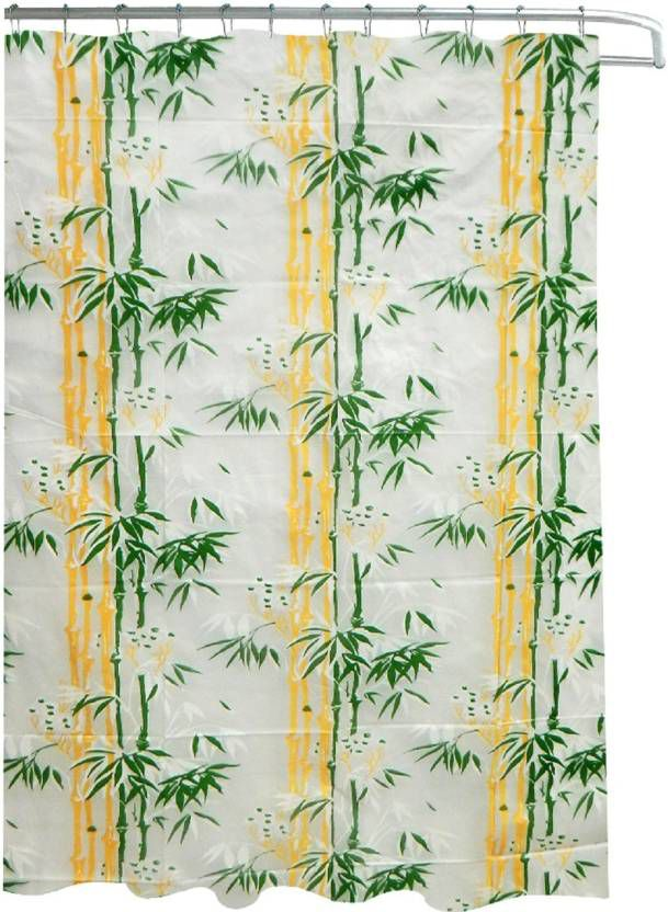 Dakshya Industries Set of 1 Shower Curtain Green Others