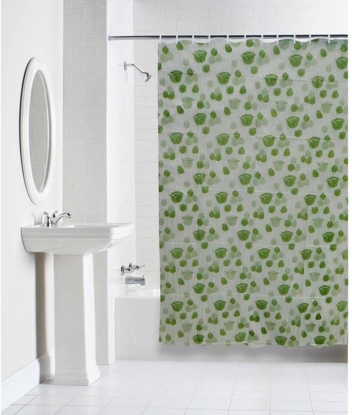 Dakshya Industries Set of 1 Shower Curtain Green Others