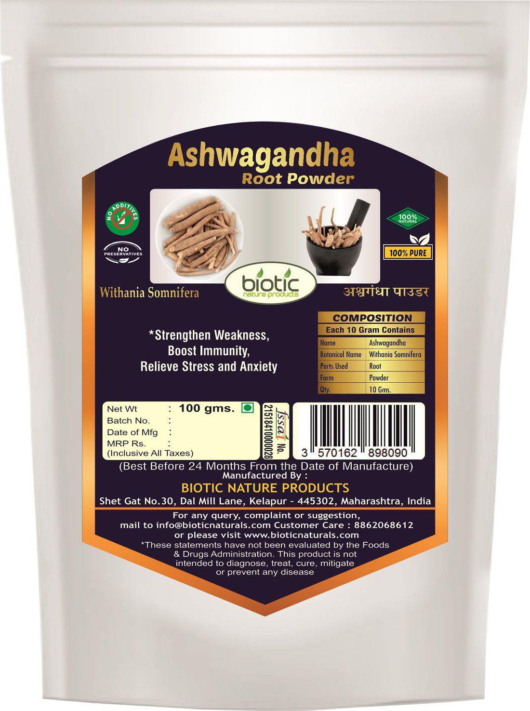 Biotic Ashwagandha Powder 100 gm