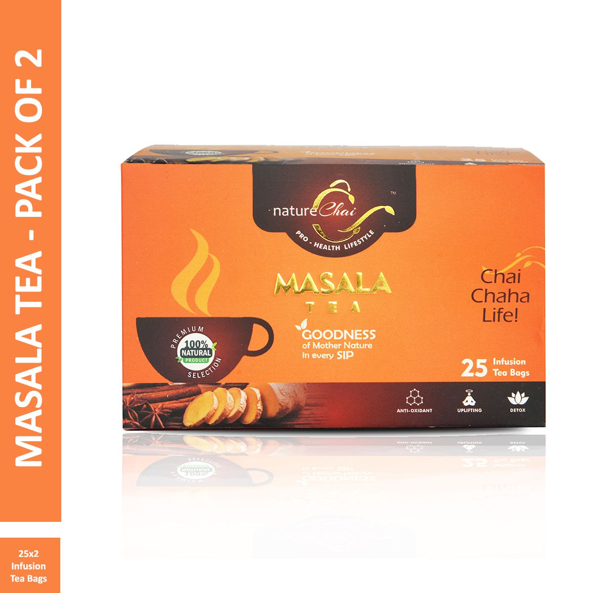 Nature Chai Masala Green Tea Bags 25 no.s Pack of 2