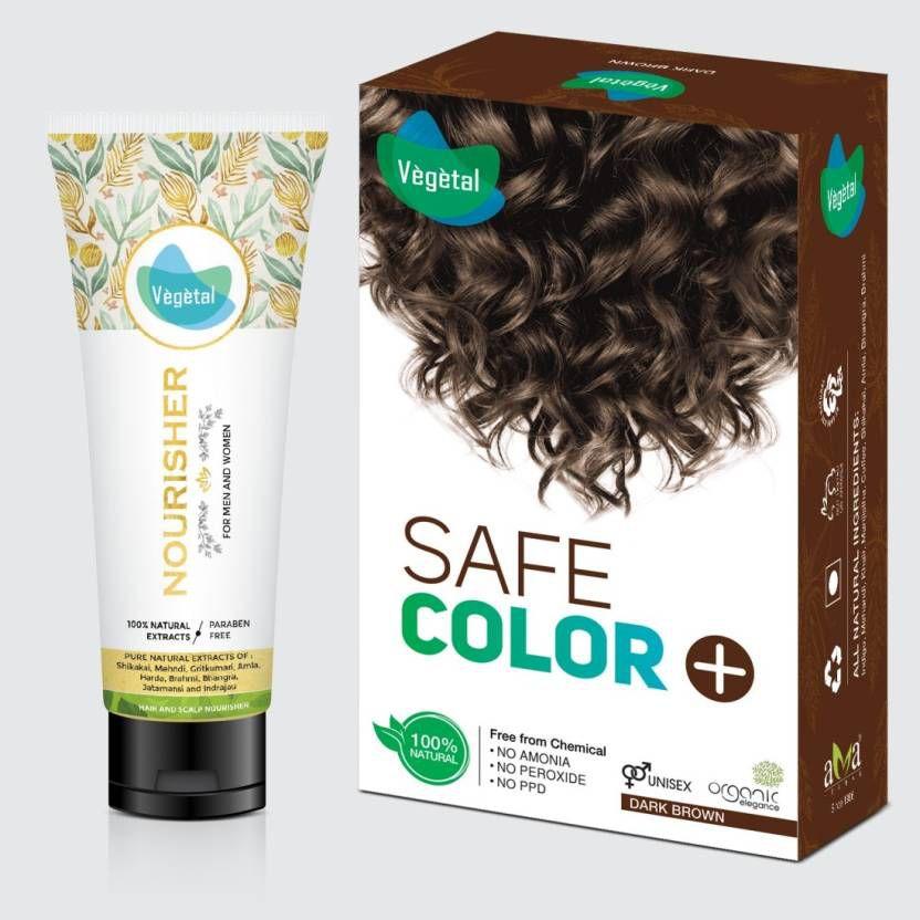Vegetal Temporary Hair Color Dark Brown 100 g