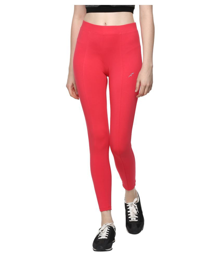 FURO Red Poly Cotton Solid Tights