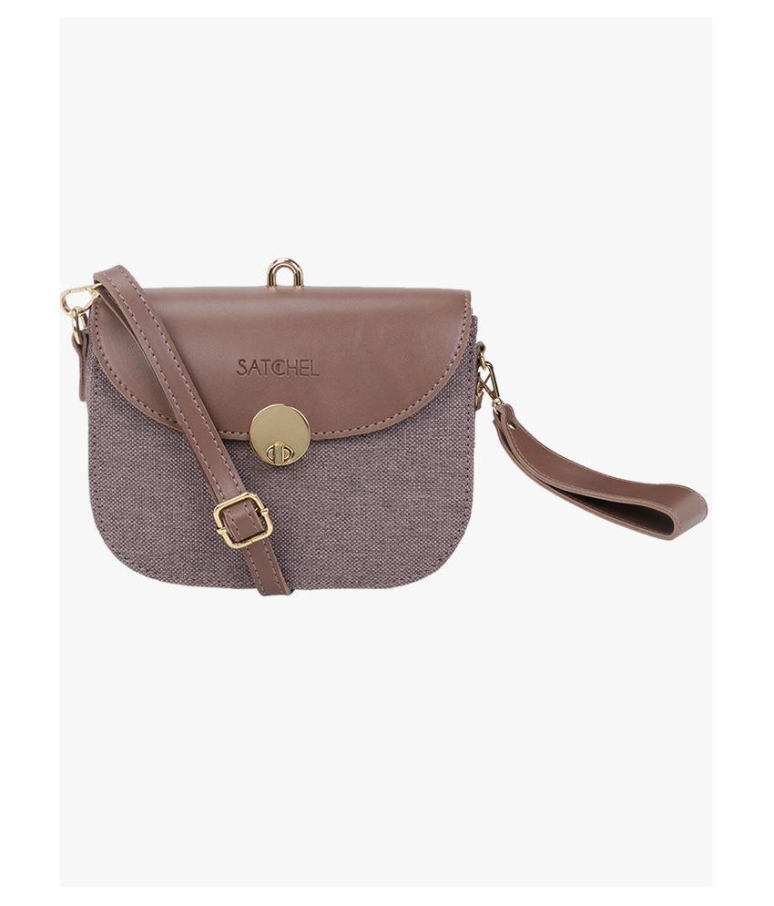 Satchel Bags & Accessories Purple P.U. Sling Bag