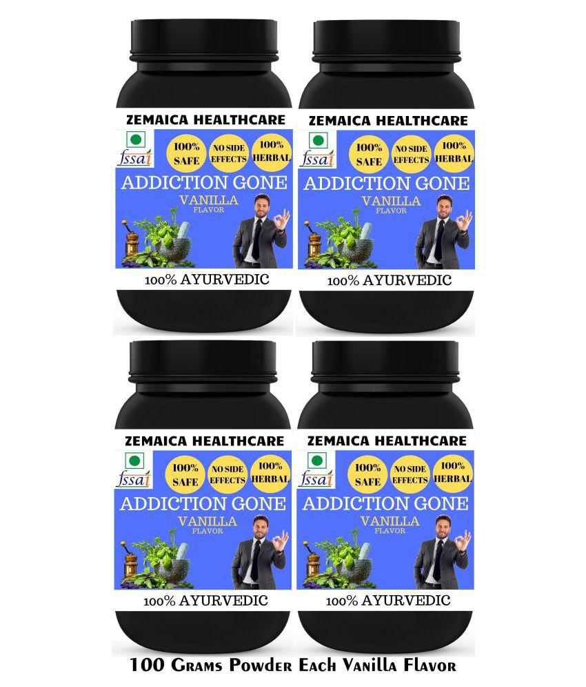 Zemaica Healthcare Addiction Gone Vanilla Flavor Powder 400 gm Pack Of 4