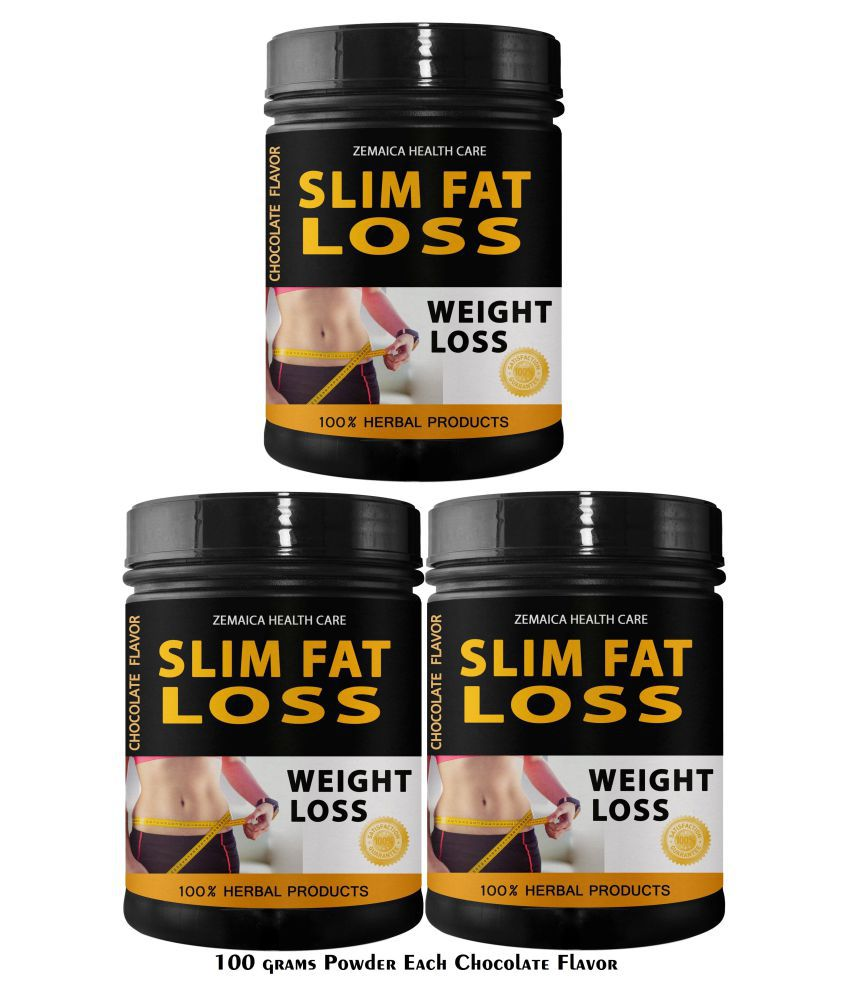 Zemaica Healthcare Slim Fat Loss Chocolate Flavor Powder 300 gm Pack of 3