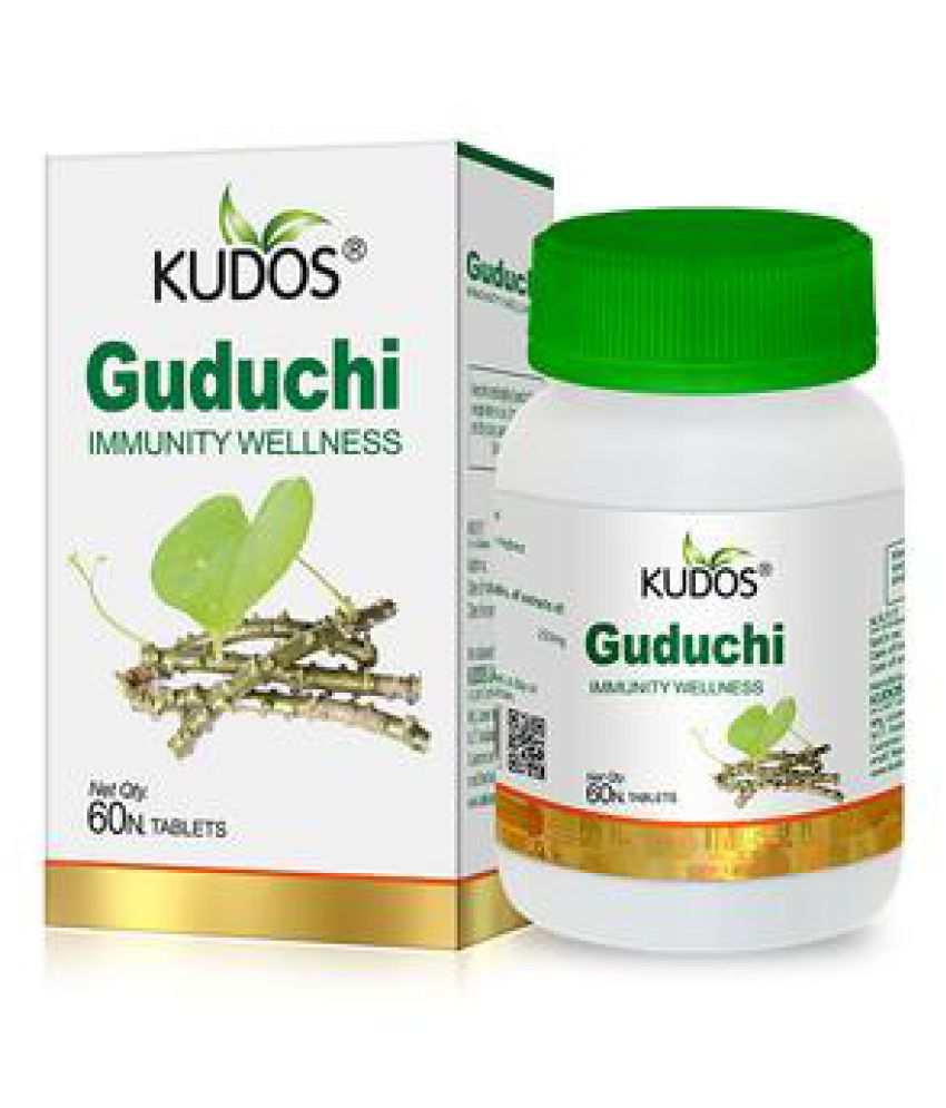 Kudos Ayurveda Guduchi Wellness Immune Booster Tablet 60 no.s