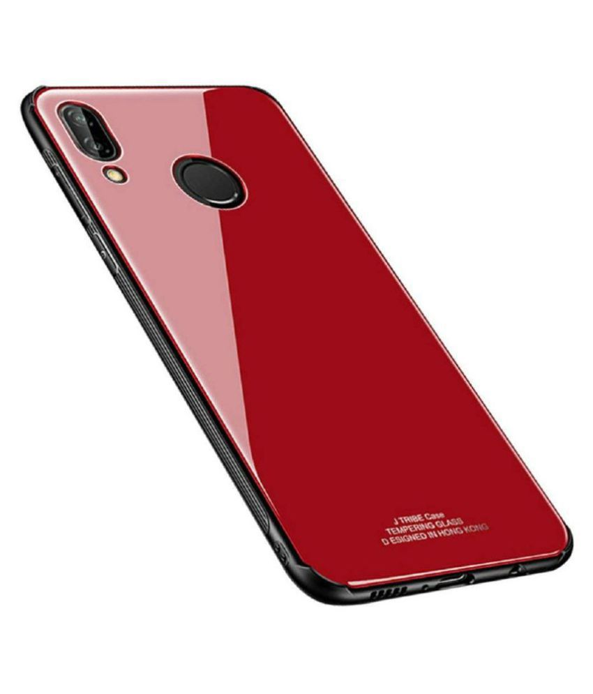 Vivo Y95 Glass Cover KOVADO - Red 360°  Luxurious Toughened Glass Back Case