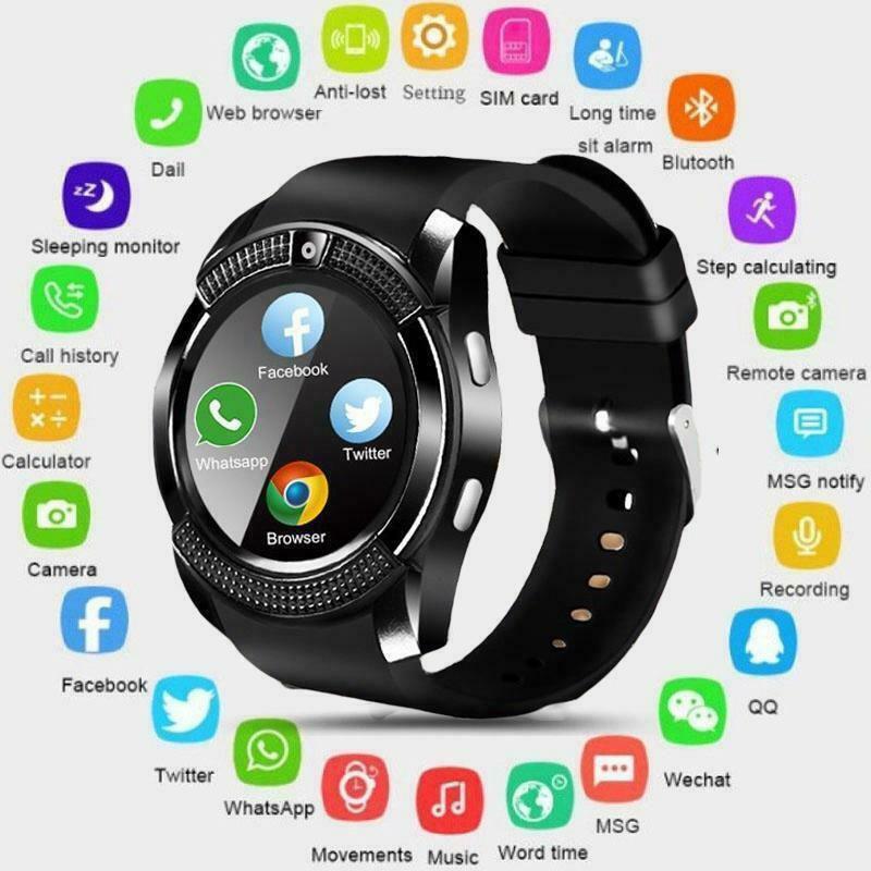 H&G Gadgets Hub V8 Smart Watch Smart Watches Black