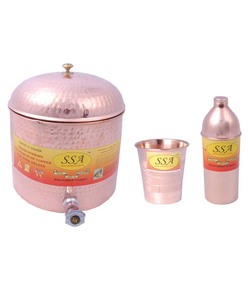 Shiv Shakti Arts Water Drinkware Set 3 Pcs Lemon set