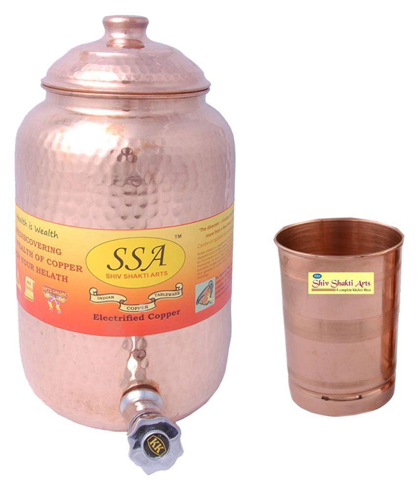 Shiv Shakti Arts Pot & Glasses Combo 1 Pcs Lemon set
