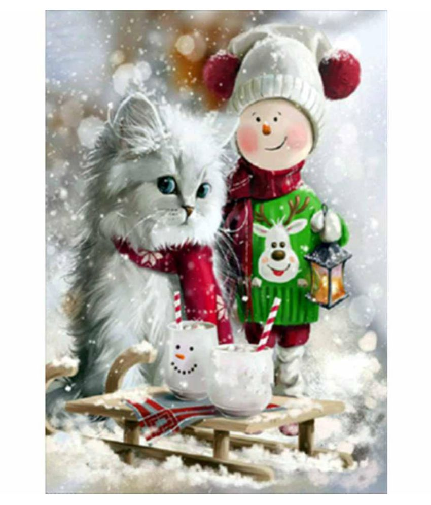 5D Diamond Painting DIY Semi-finished Animal Theme Cat Cute Style Home Living Room Bedroom Office Decoration Easy to Use