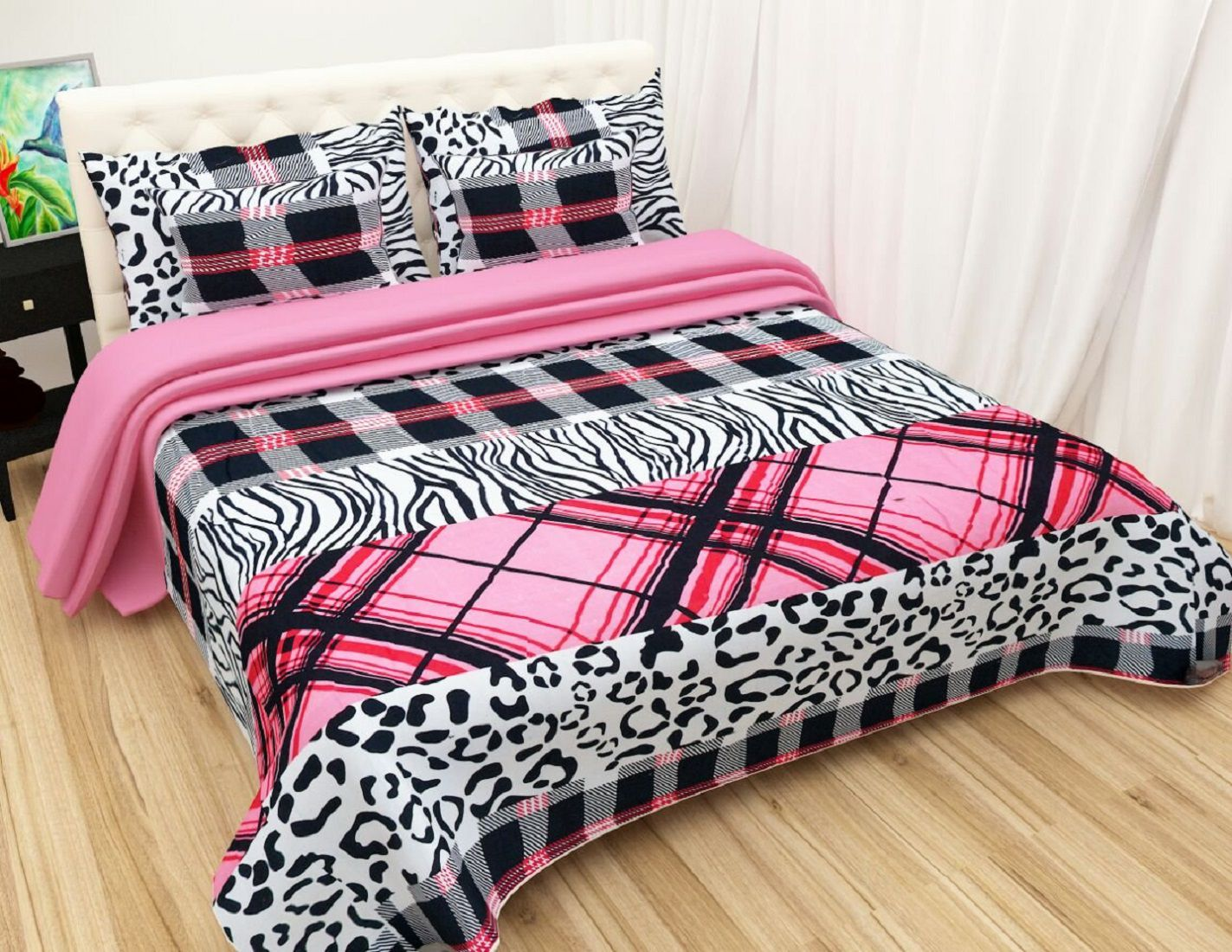 Home expert Microfibre Double Bedsheet with 2 Pillow Covers