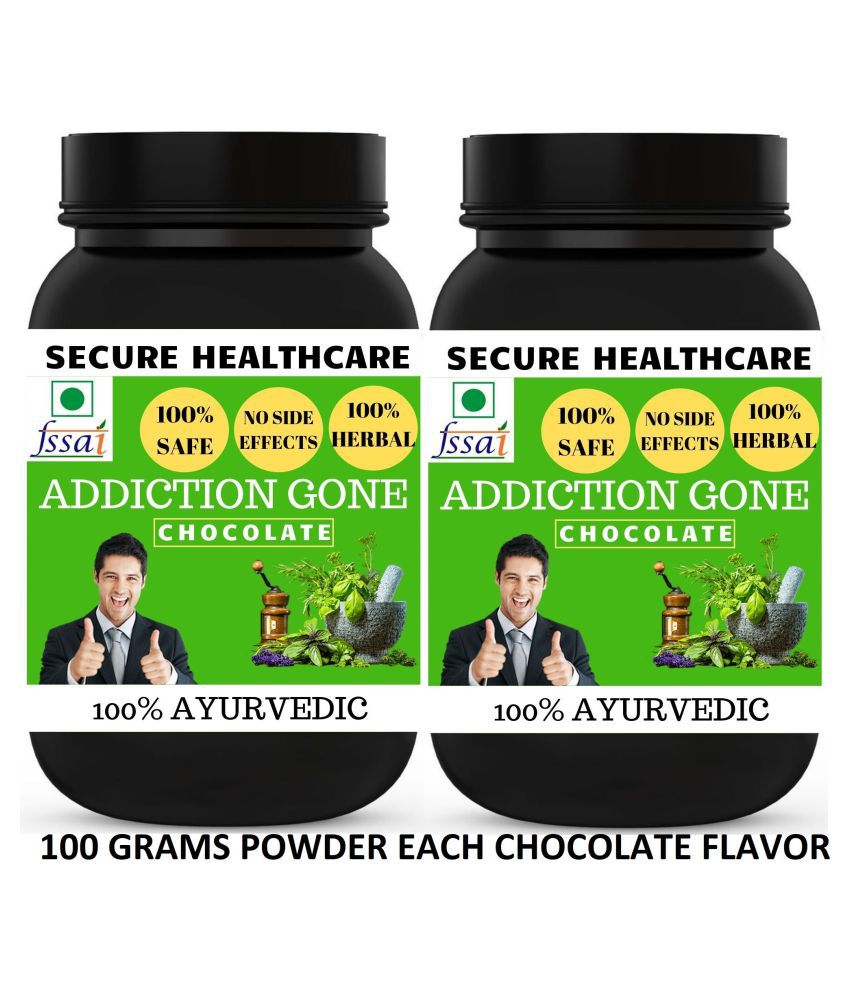 Secure Healthcare Addiction Gone Chocolate Flavor Powder 200 gm Pack Of 2