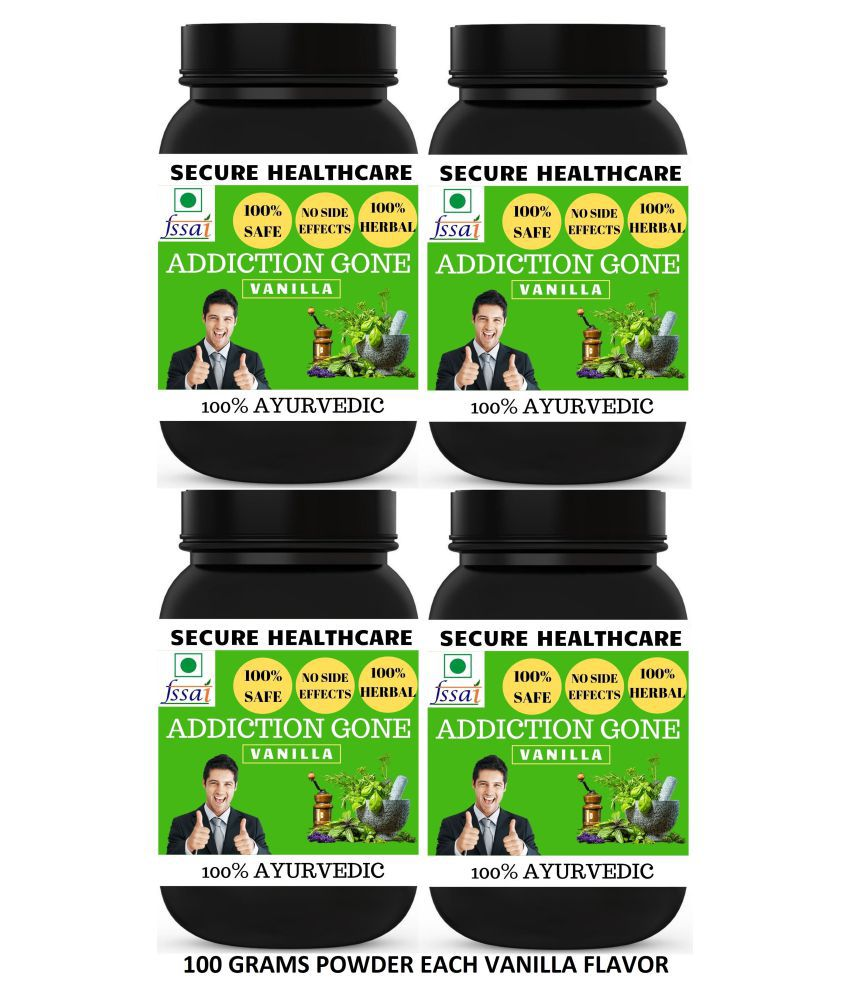 Secure Healthcare Addiction Gone Vanilla Flavor Powder 400 gm Pack Of 4