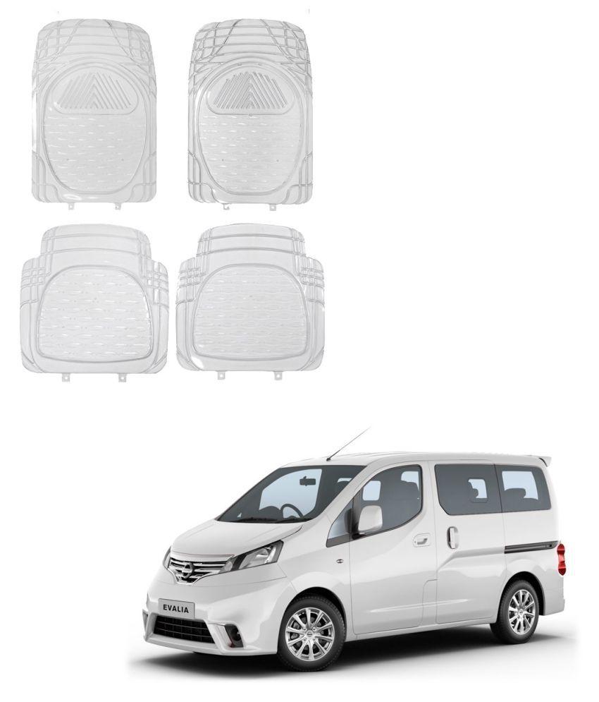 Auto Addict Car Rubber PVC Car Mat 6204 Foot Mats Clear Color Set of 4 pcs For Nissan Evalia