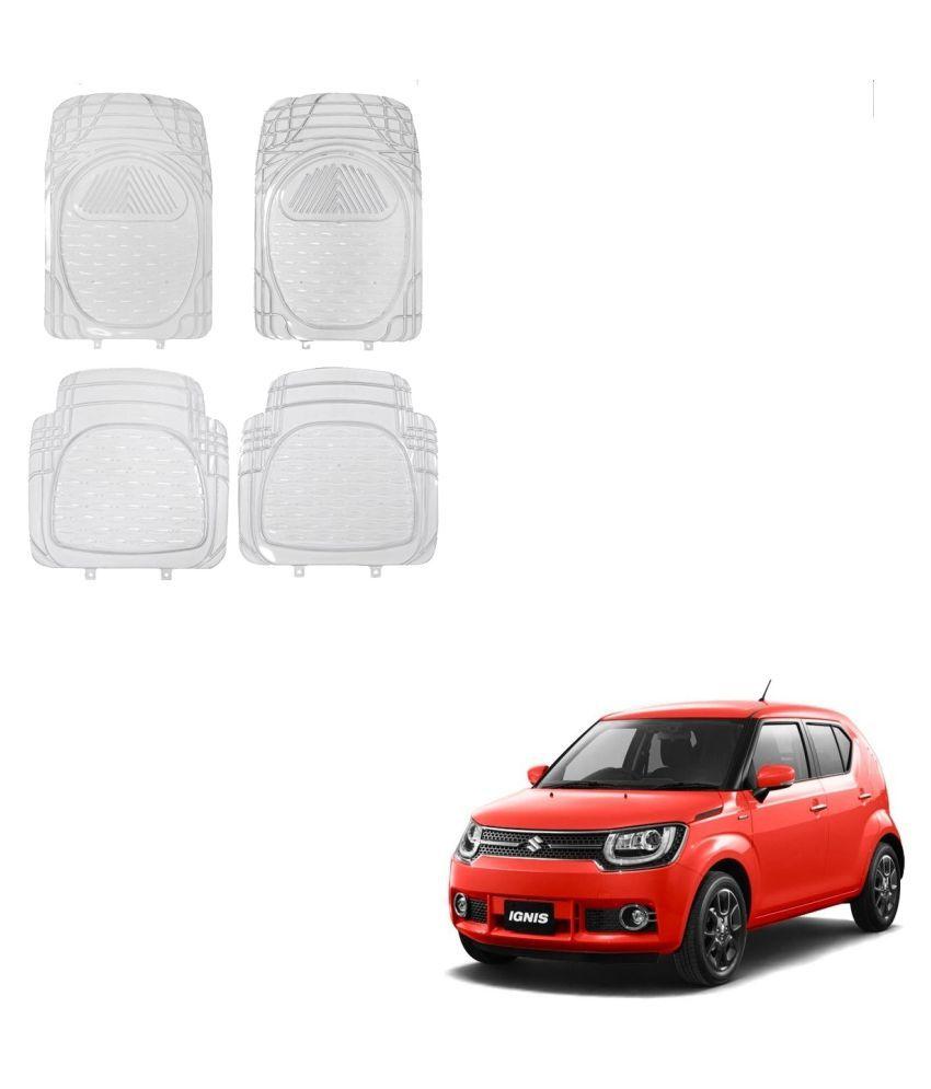 Auto Addict Car Rubber PVC Car Mat 6204 Foot Mats Clear Color Set of 4 pcs For Maruti Suzuki Ignis