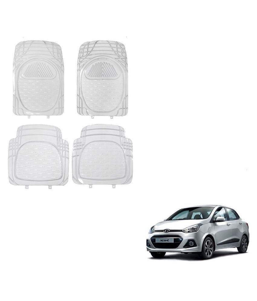 Auto Addict Car Rubber PVC Car Mat 6204 Foot Mats Clear Color Set of 4 pcs For Hyundai Xcent