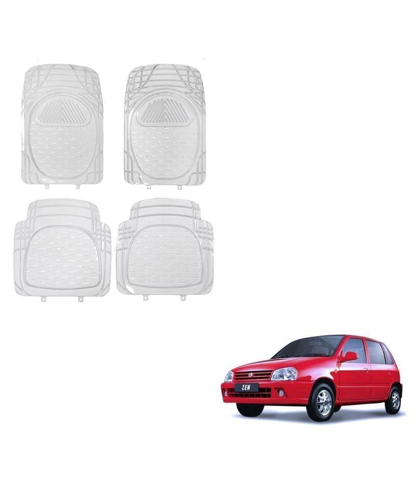 Auto Addict Car Rubber PVC Car Mat 6204 Foot Mats Clear Color Set of 4 pcs For Maruti Suzuki Zen