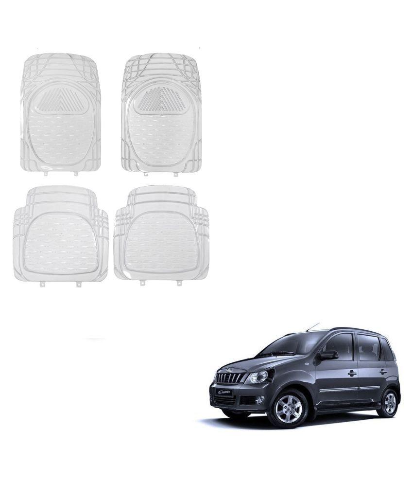 Auto Addict Car Rubber PVC Car Mat 6204 Foot Mats Clear Color Set of 4 pcs For Mahindra Quanto