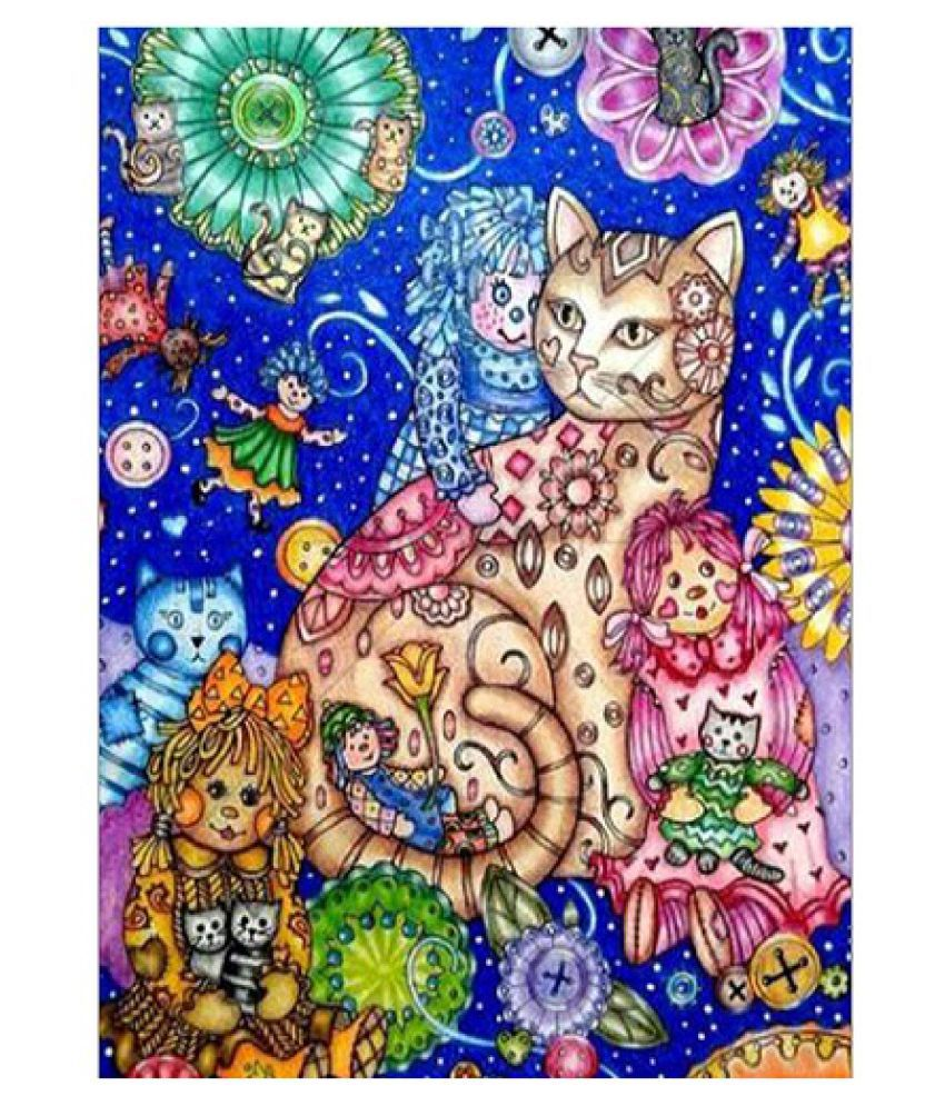 5D DIY Diamond Painting Cross Stitch Kit Full Round Resin Diamond Covered Paint by Number Kits for Adults and Kids