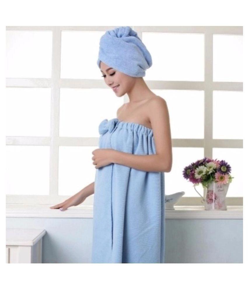 Bow Microfiber Bath Beach Wearable Body Wrap Spa Toweluff08No Include Dry Hair Towel